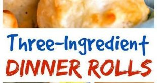 These quick and easy dinner rolls with mayonnaise need no yeast or rise time! #r...