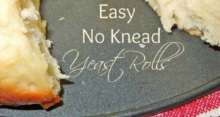 This Easy No Knead Yeast Rolls recipe from Melissa's Southern Style Kitchen ar...