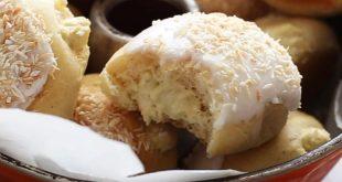 Coconut Cream filled Baked Yeast Donuts Recipe | AlsoTheCrumbsPlease