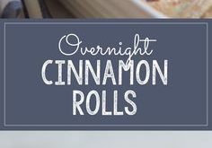 Homemade Overnight Cinnamon Rolls With Cream Cheese Frosting! Make this delicio...