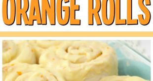 Orange Rolls made in an hour! Perfectly sweet, soft rolls with a bright citrus g...