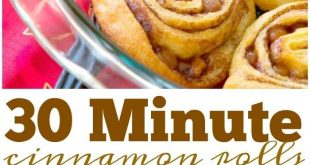 These quick cinnamon rolls are amazing! 30 minute caramel cinnamon rolls from st...