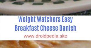Weight Watchers Easy Breakfast Cheese Danish #Weight Watchers#Breakfast